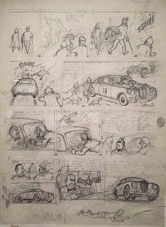 Herge Affaire-Tournesol Planche-36-Crayonne