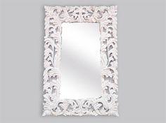 Specchio barocco bianco decape stile #shabbychic 150x100 cm. Mirror white decape foil finish.  Construction Material: wood and glass   #arredamento #casa #interiordesign #home #decor
