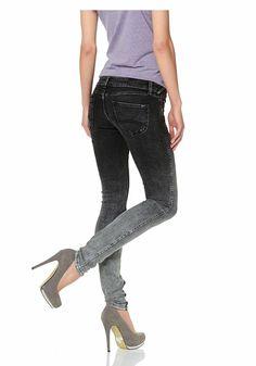 Materialzusammensetzung , Obermaterial: 92% Baumwolle, 6% Polyester, 2% Elasthan, |Material , Baumwollmischung, |Materialart , Denim/Jeans, |Stil , modisch, |Leibhöhe , etwas niedriger, |Beinform , Röhre, |Beinabschluss , durchgesteppt, |Passform , eng, |Herstellerpassform , skinny, |Gürtelschlaufen , ja, |Taschen , Eingrifftaschen, aufgesetzte Taschen, |Verschluss , 1-Knopf-Form, Reißverschlus...