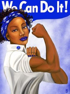 """We Can Do It"" - Alpha Kappa Alpha This work by Lindsey Jordan was inspired by the history and legacy of Alpha Kappa Alpha Sorority Incorporated, and the streng Aka Sorority, Alpha Kappa Alpha Sorority, Sorority Life, Black Girl Art, Black Women Art, Black Girl Magic, Black Men, Royal Blue And Gold, Pink And Green"