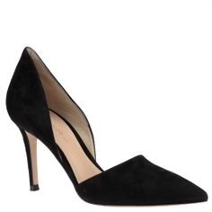 Gianvito Rossi black suede pumps with open sides, from Wunderl in Austria