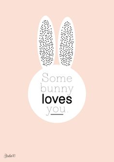"Printable Poster Easter ""Some Bunny Loves You"" 