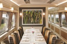 Bespoke Original BTC wall lights in the dining car of Belmond's Grand Hibernian train Lighting Design, Bespoke, Wall Lights, England, The Originals, Projects, Trains, Boats, Dining