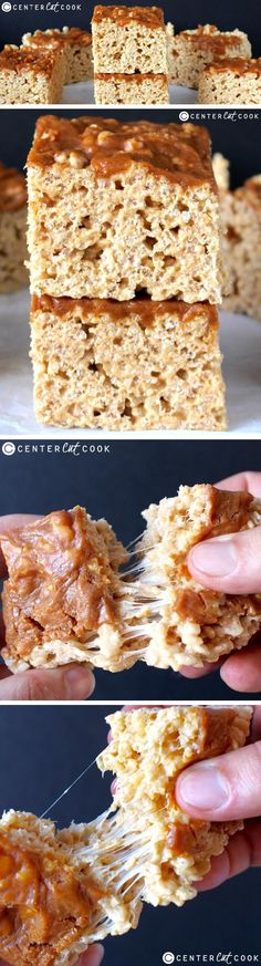 These PUMPKIN CARAMEL RICE KRISPY TREATS are such a delicious twist of the classic favorite! With Pumpkin Spice Caramel folded in and poured on top- these are sure to please everyone!