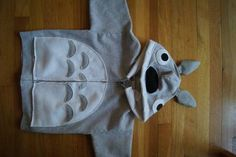 Instructions to make a Totoro hoodie - Si is in lust