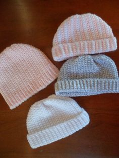 A Stitch At A Time for Amy B Stitched: Newborn Crochet Hat Pattern
