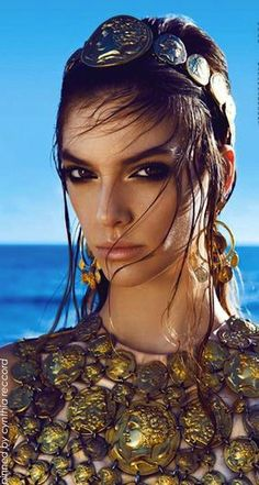 Modern Goddess / karen cox. mediterranean-chic-lofficiel-greece-june-2014 | cynthia reccord