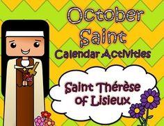October Catholic Saint Calendar Activities - Saint Therese