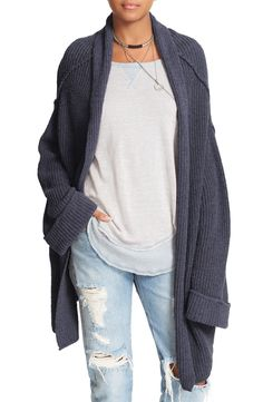 oversized cardigan perfection.  free people nordstrom