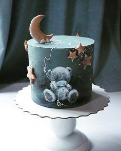 Enchanting Cakes by Elena Gnut - Cake o Cake - Cake Design Cupcake Cake Designs, Cupcake Cakes, Baking Cupcakes, Sweets Cake, Baby Cakes, Baby Shower Cakes, Pink Cakes, Beautiful Cakes, Amazing Cakes