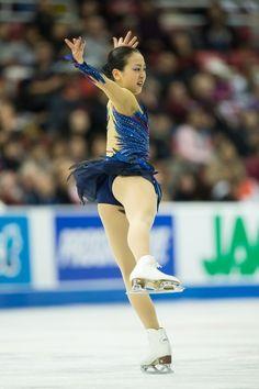Mao Asada of Japan performs her free dance at Skate America 2013 in Detroit, Michigan, October 20, 2013.