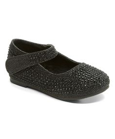 Love this Black Rhinestone Crib Shoe on #zulily! #zulilyfinds