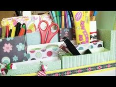 This DIY: Desk Organizer is awesome and almost entirely upcycled.