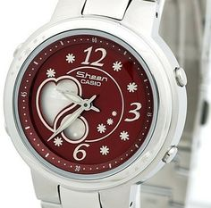 Sheen SHN-6003D-4A Red Small Dial Watch For Women -commodityocean.com