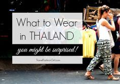 What-to-Wear-in-Thailand: I'm still not 100% sold on harem pants but I do want a loose tank like pictured with shorts- where to shop?