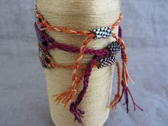"""Affinity bracelets by Mirrix - Great idea done with the """"no-warps"""" kit for the loom"""
