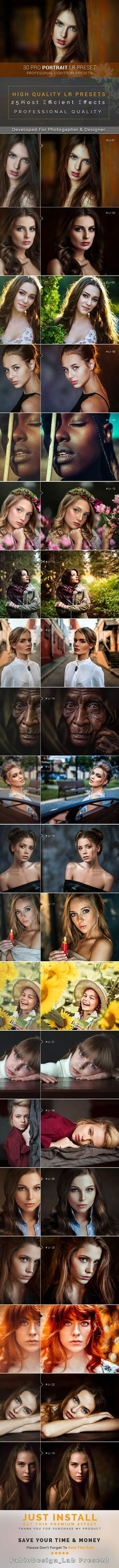 30 Pro Portrait Lr Preset by FabioDesign_Lab 30 Pro Portrait Lr Preset This pack is very creative lightroom pack. Every preset work properly. No destroy preset included in th