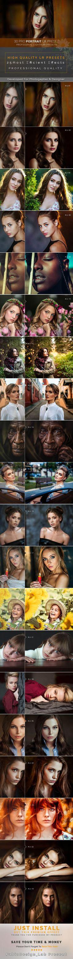 30 Pro Portrait Lightroom Preset #photoeffect