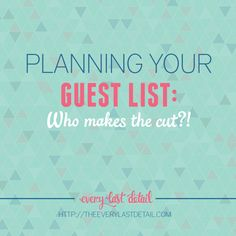 Planning Your Guest