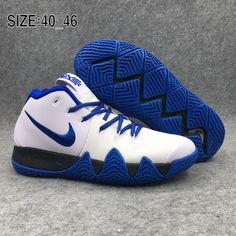 Discount Nike Kyrie 4 Basketball Chaussures Homme Blanc Blue. Brand Shoes 669e1d0c3