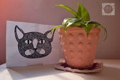 Maceta con textura Planter Pots, How To Make, Texture, Objects, Plants