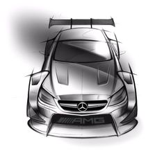 Automotive Design | Mercedes-Benz C63 AMG DTM Racecar sketches