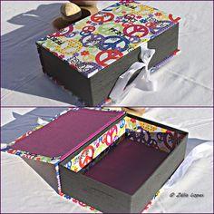 caixa decorativa forrada em tecido