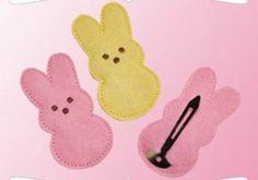 Easter bunny felt hair clip