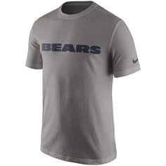Chicago Bears Nike Essential Wordmark T-Shirt - Charcoal