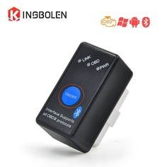 Super Mini Bluetooth ELM327 OBD2 Diagnostic Scanner Power Switch Works on Android Symbian Windows ELM 327 on/off elm327 V2.1