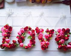 New Ideas Diy Wedding Gifts For Couple Creative Valentines Day Paper Flower Decor, Flower Decorations, Paper Flowers, Diy Wedding Gifts, Wedding Gifts For Couples, Diy Gifts, Flower Letters, Diy Letters, Creative Valentines Day Ideas