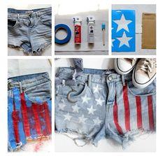 DIY Fourth of July shorts!