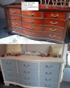 Find This Pin And More On Antes Después. Before And After, Shabby Chic  Vintage Furniture Makeovers