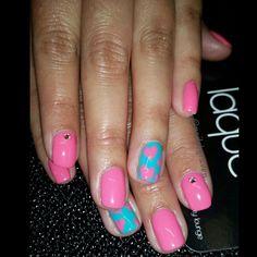 """Cute gel manicure for Wendy. Love these colors!!! #gelmanicure #gelmani #gelpolish #Essiegel #opigel #nailsbyraven #nailswag #nailart #naildesign…"""