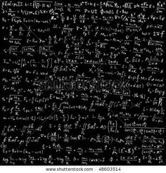 einstein equations | Blackboard with physical equations and formulas - vector illustration ...