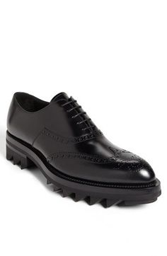 Prada Runway Wingtip available at - Prada Shoes Mens - Ideas of Prada Shoes Mens - Prada Runway Wingtip available at Gents Shoes, Gentleman Shoes, Fashion Shoes, Mens Fashion, Fashion Accessories, Prada Men, Prada Shoes, Mode Style, Leather Shoes