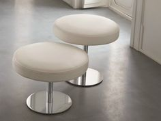 Low upholstered leather stool TORRE - Dall'Agnese