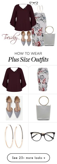 """""""Tuesday Plus"""" by kneesaasmom on Polyvore featuring Melissa McCarthy Seven7, WithChic, Victoria Beckham, Lana and plus size clothing"""