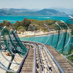Ride down Dragon's Tail Coaster on Labadee. #caribbean #rollercoaster