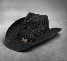 ab7c161ceafde Harley-Davidson® Women s Straw-Look Star Cowboy Hat