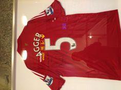 Jersey of football player Agger at Copenhagen airport