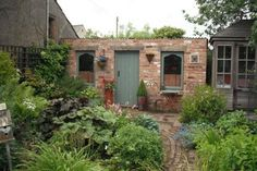 Would like to find out about bike shed plans? Then here is without doubt the right place! Brick Shed, Brick Garden, Garden Path, Garden Sheds Uk, Backyard Sheds, Garden Cottage, Garden Workshops, Large Sheds, Edwardian House