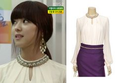 "Lee Se-Young in ""Trot Lovers"" Episode 2.  Minimum Embellished Neck Blouse #Kdrama #TrotLovers #트로트의연인 #LeeSeYoung #이세영"