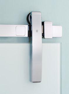 Stainless Steel Door Hardware | Contemporary Sliding Door Hardware [ Barndoorhardware.com ] #modern #hardware #specialty