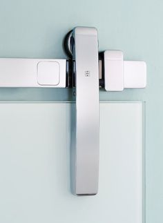 Stainless Steel Door Hardware | Contemporary Sliding Door Hardware [ Barndoorhardware.com ] #modern #hardware #specialty