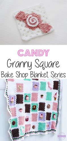 Crochet Candy Granny Square: Bake Shop Blanket Series | Free Pattern from Sewrella