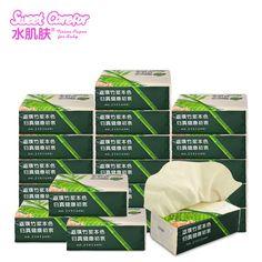Bamboo facial tissue.