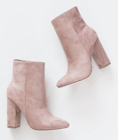 Rose colored booties!