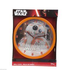 da9537bb803 Children s Official Licenced Star Wars Bb-8 Wall Clock