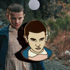 Stranger Things  Eleven Enamel Pin in Gold by RealSic on Etsy